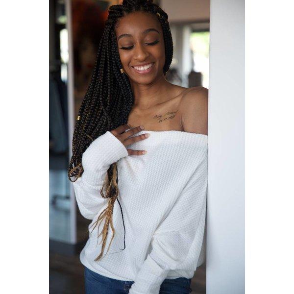 Cora Cold Shoulder Sweater