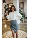 High Waist Wrap Skirt