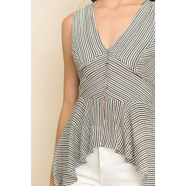 Ruffle Striped Maxi Top