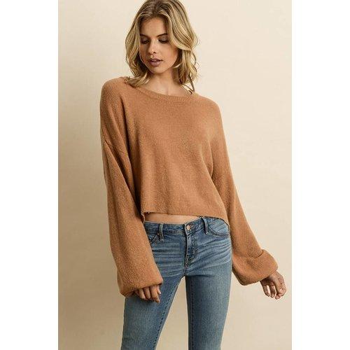 DRESS FORUM Soft Bubble Sleeve Sweater
