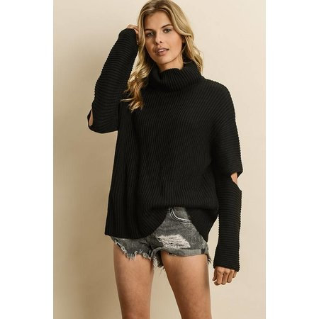 DRESS FORUM Cold Elbow Turtleneck Sweater