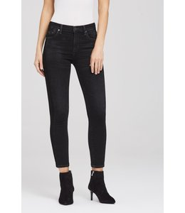 CITIZENS OF HUMANITY ROCKET CROP HIGH RISE SKINNY - SHADOW STRIPE