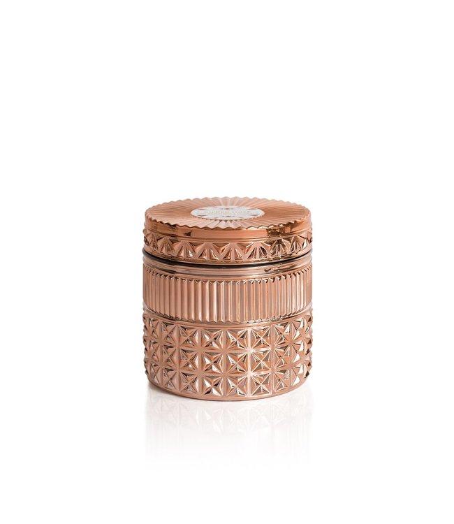CAPRI BLUE PINK GRAPEFRUIT & PROSECCO CANDLE FACETED JAR