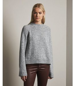 AG SHIMMER HEATHER GREY SWEATER