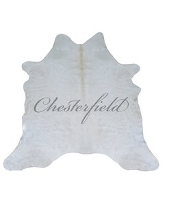 CHESTERFIELD LEATHER WHITE COWHIDE RUG