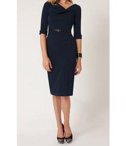 BLACK HALO ECLIPSE 3/4 SLV JACKIE O DRESS