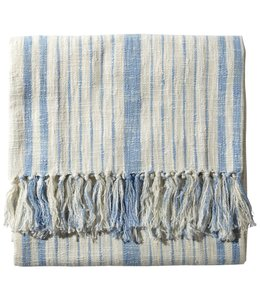 "JOHN ROBSHAW GLACIER STRIPED COTTON THROW 50""x70"""