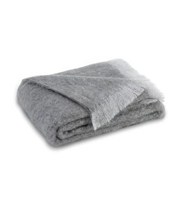 LANDS DOWNUNDER PEWTER BRUSHED MOHAIR THROW 51X72