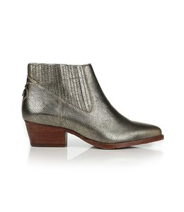 HUDSON SHOES ERNEST CALF BOOTIE - GOLD