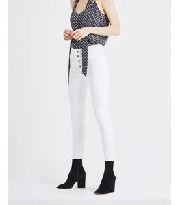 AG FARRAH SKINNY BUTTON UP WHT