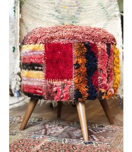 KILIM HOME LLC DJEM UNIQUE DESIGN TULIP KILIM STOOL