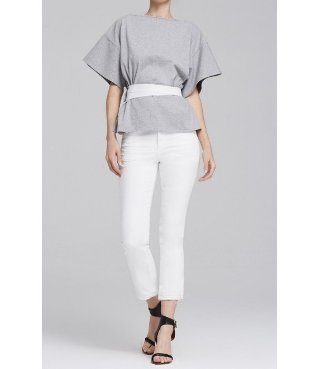 CITIZENS OF HUMANITY DREW CROP FLARE - DISTRESSED WHITE