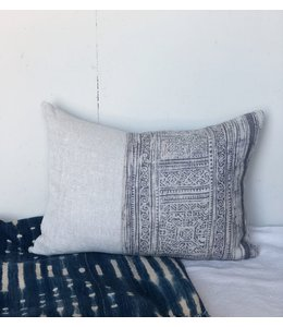 HOUSE OF CINDY HMONG LINEN PILLOW GRAY 16X22