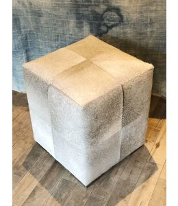 Made Goods ESSEX HAIR-ON-HIDE STOOL, GRAY
