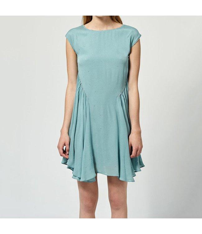 HOSS/INTROPIA SHEER SILKY DRESS HAWAI BLUE