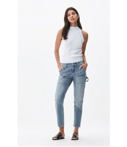 CITIZENS OF HUMANITY LEAH CARGO LOW RISE LOOSE PANT MERCURY