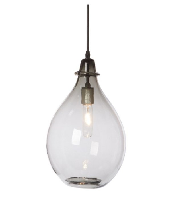 CISCO BROTHERS GLASS JUG OVAL LAMP SKY DOUBLE CORD