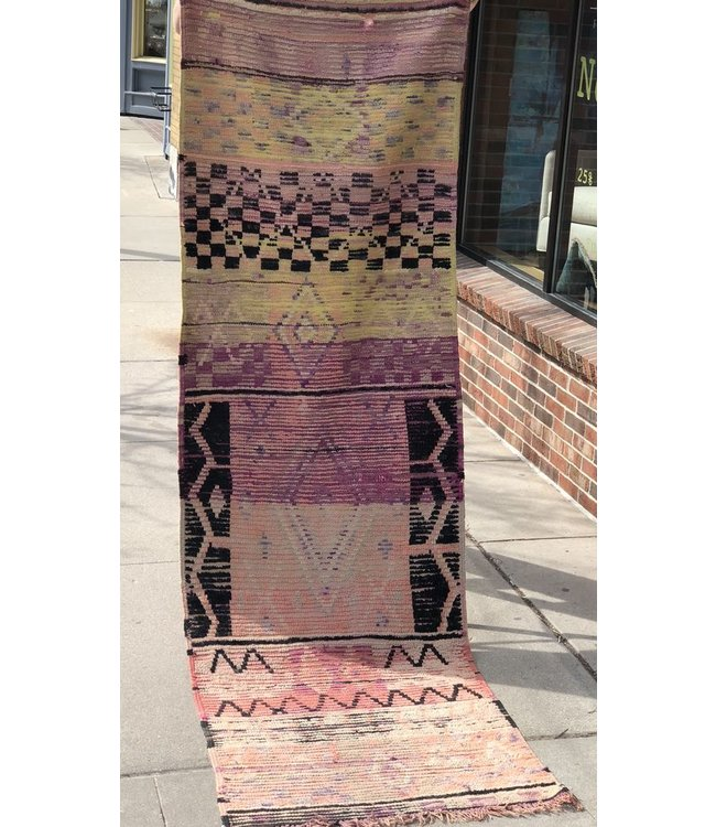 HOUSE OF CINDY VINTAGE MOROCCAN BOUGADD RUNNER
