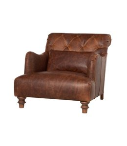 CISCO BROTHERS ACACIA LEAHTER CHAIR IN SPUR TERRACOTTA