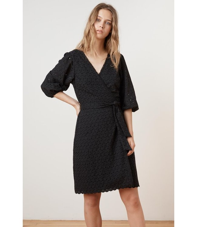 VELVET MERINA WRAP DRESS