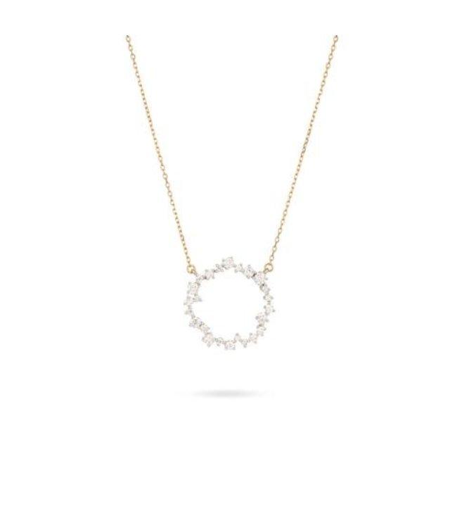 ADINA REYTER MEDIUM SCATTERED DIAMOND CIRCLE NECKLACE-Y14