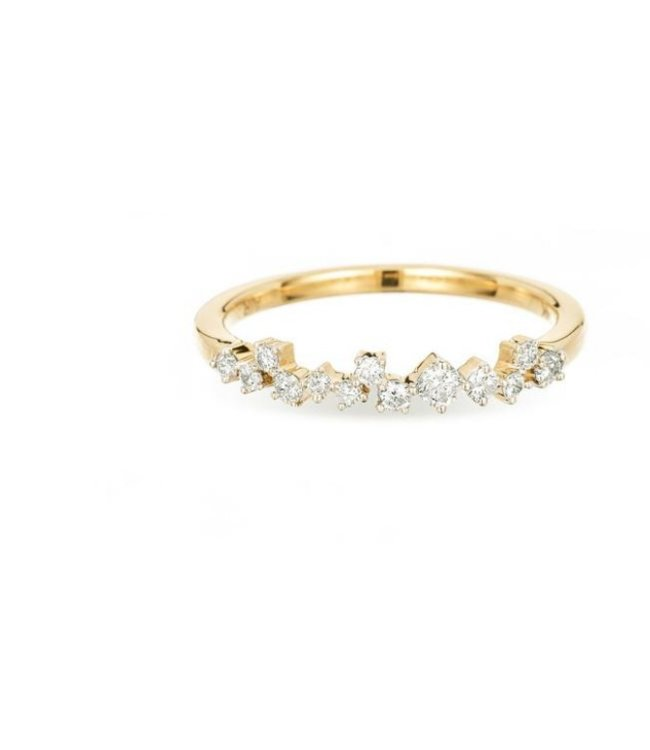 ADINA REYTER EXTENDED SCATTERED DIAMOND RING-Y14, SIZE 7