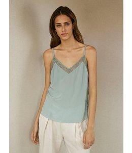 HOSS/INTROPIA Lace Lingerie Silk Top