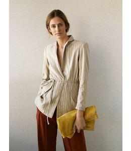 HOSS/INTROPIA Striped Linen and Cotton Blazer
