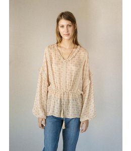 HOSS/INTROPIA Laces and Frills Patterned Blouse