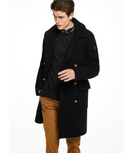 SCOTCH & SODA LONG CAPTAIN COAT - WOOL QUALITY