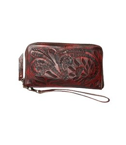 LEADERS IN LEATHER VAQUETTE TOOLED WALLET