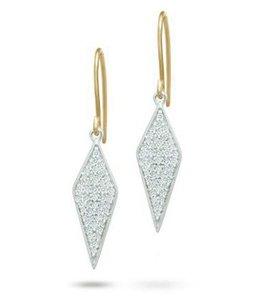 ADINA REYTER LONG SOLID PAVE' DIAMOND EARRINGS