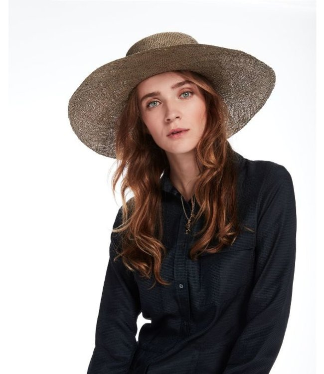 MAISON SCOTCH WIDE BRIM WICKER HAT