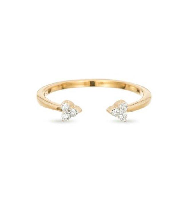 ADINA REYTER DOUBLE SUPER TINY DIAMOND CLUSTER RING, SIZE 7