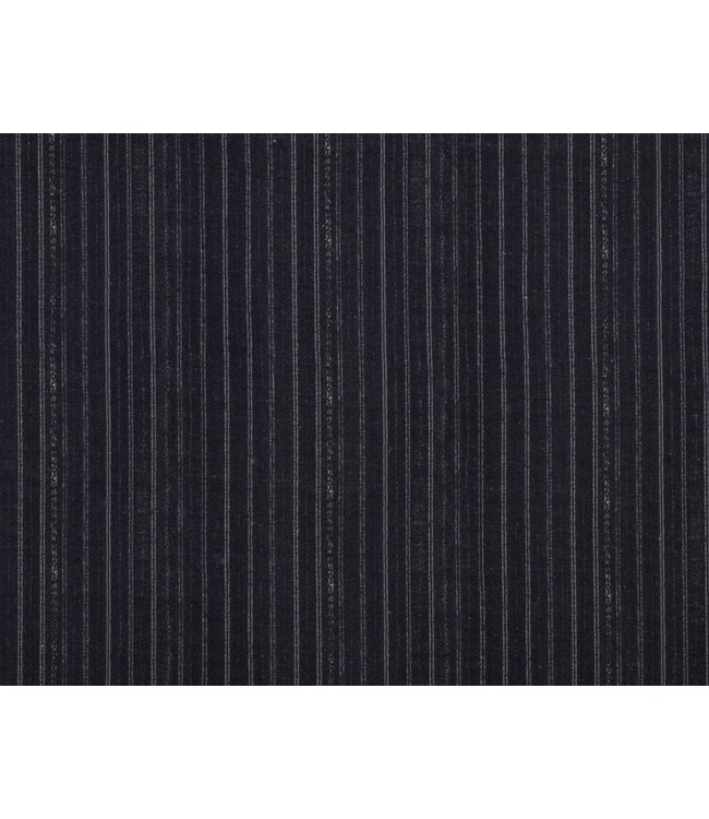 CISCO BROTHERS BENGAL PIN STRIP CHARCOAL FABRIC BY THE YARD