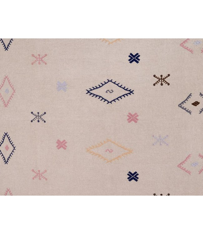 CISCO BROTHERS HAKAN BLUE ROSE FABRIC BY THE YARD