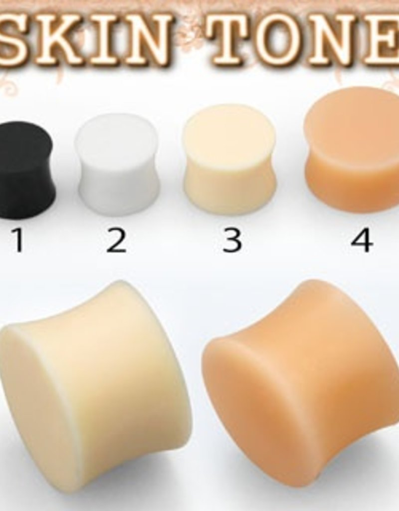 2pc. Flesh-toned silicone plug retainer #3 - 6g