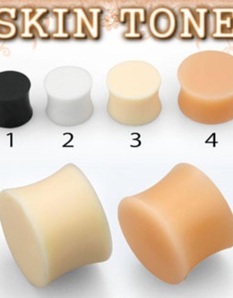 2pc. Flesh-toned silicone plug retainer #3 - 2g