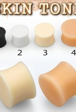 2pc. Flesh-toned silicone plug retainer #3 - 0g