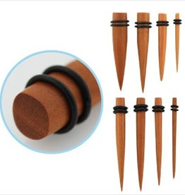 2pc. Sawo wood taper with double rubber O-rings-8g