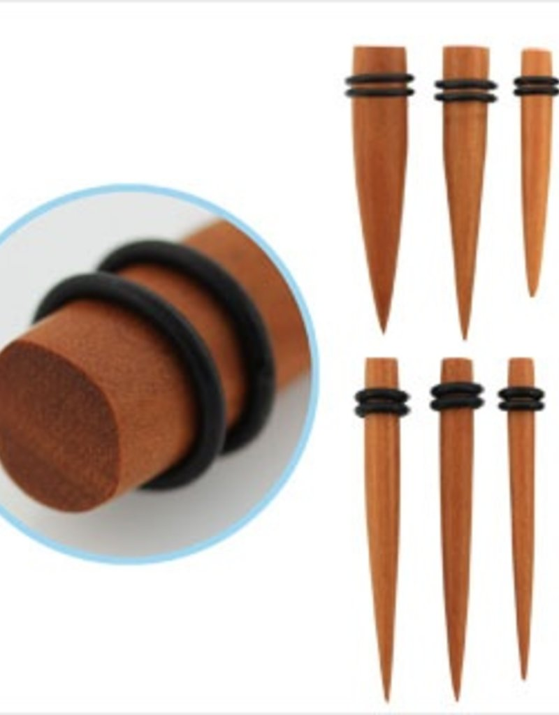 2pc. Sawo wood taper with double rubber O-rings-6g