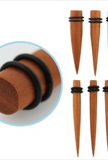2pc. Sawo wood taper with double rubber O-rings-0g