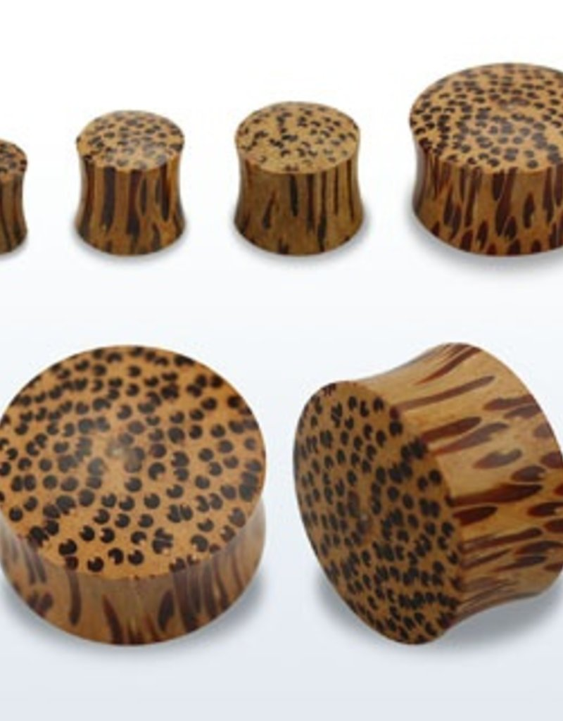 2pc. Coconut wood double flared solid plug-8g