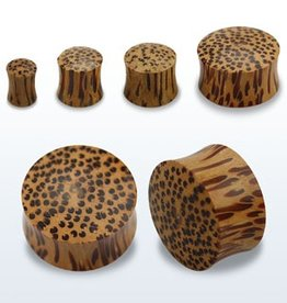 2pc. Coconut wood double flared solid plug-0g