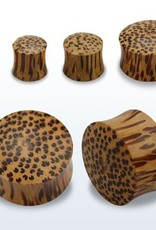 2pc. Coconut wood double flared solid plug-1/2""