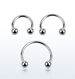 "Circular barbell 20g  ,5/16""  with 3mm balls"