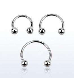 "Circular barbell 20g  ,3/8""  with 3mm balls"