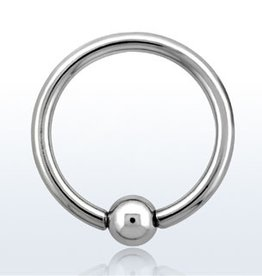Ball closure ring, 14g, 4mm ball, 8mm