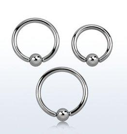 Ball closure ring, 12g, 5mm ball, 5/8''