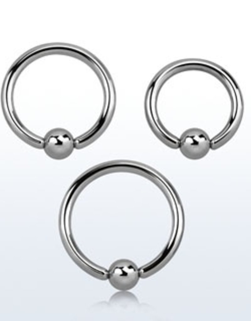 Ball closure ring, 12g, 5mm ball, 5/8''
